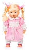在桃红色礼服的玩偶 免版税库存图片