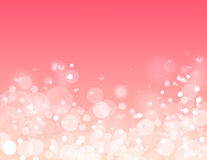 在桃红色背景的传染媒介美好的圈子 库存图片