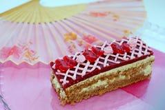 莓蛋糕 免版税图库摄影