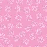 在桃红色背景的抽象花卉无缝的样式 对印刷品,贺卡,邀请,婚礼,生日,党,华伦泰 向量例证