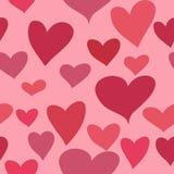 在桃红色背景的美好的桃红色心脏 库存例证