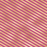 在桃红色背景的金条纹 免版税图库摄影