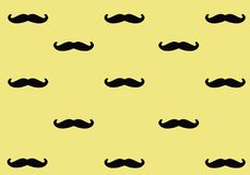 在桃红色背景的黑髭 髭样式 免版税库存图片