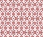 在桃红色颜色的传染媒介花卉无缝的样式 库存照片