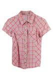 在桃红色颜色的妇女的女衬衫 免版税库存图片