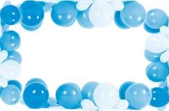 在框架形状隔绝的五颜六色的气球  免版税图库摄影