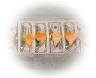 在框架是美元背景题字的 库存照片
