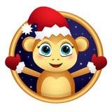 在框架的猴子圣诞老人 皇族释放例证
