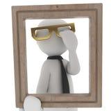 在框架的玻璃 免版税库存照片