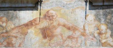 在案件Cazuffi-Rella的壁画在特伦托 库存图片