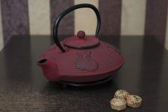 在桌上是中国茶 免版税库存图片