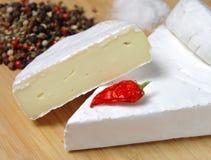 在桌上的乳酪 免版税库存图片