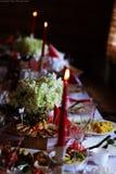 在桌上的党装饰 库存图片