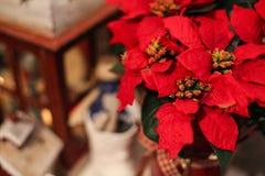 在桌上的内部圣诞节家装饰 12月31日 库存照片
