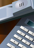在桌上的办公室电话 免版税库存照片