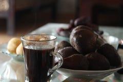 在桌上的咖啡,版本3 免版税库存照片