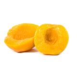 在桌上的桃子 免版税库存照片