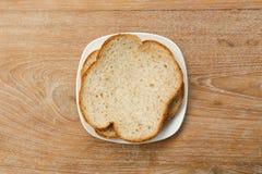 在桌上的面包 库存照片