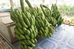 在桌上的香蕉 免版税库存图片