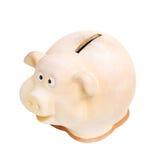 在桌上的Moneybox 免版税库存图片