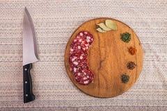在桌上计划的好食物 库存照片