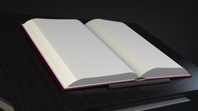 在桌大模型的书 免版税库存照片