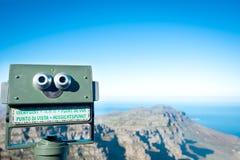 在桌山的望远镜在开普敦 免版税库存图片