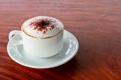 在桌的咖啡 免版税图库摄影