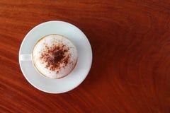在桌的咖啡 图库摄影