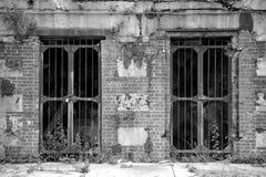 在桑迪勾子新泽西的老地堡门 库存照片