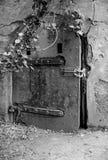 在桑迪勾子新泽西的老地堡门 免版税库存图片