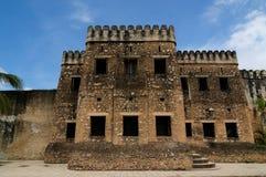 在桑给巴尔海岛上的石镇 免版税库存照片
