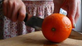 在桔子的木裁减板的切口半桔子 股票录像