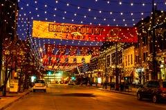 在桔子美国橄榄球联盟团结的丹佛Larimer广场 库存图片