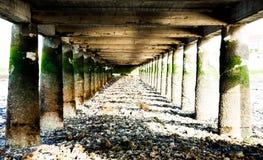 在桥梁下在Alcochete葡萄牙 免版税图库摄影