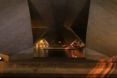 在桥梁天使场面下 库存照片