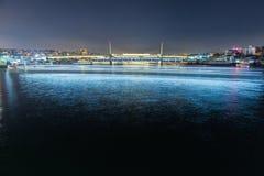 在桥梁的看法在伊斯坦布尔 图库摄影