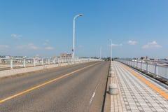 在桥梁的路在运输的海建筑学 库存图片