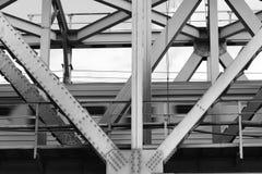 在桥梁距离展望期舒展跟踪的铁路铁路之外 库存图片