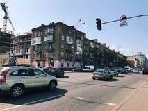 在桥梁都市风景的一个大城市交易 免版税库存照片