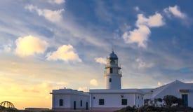 在梅诺卡岛海岸的cavalleria灯塔  库存照片