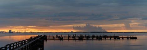 在梅里特岛,佛罗里达的日出 库存图片