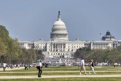 在梦想行动改革集会期间的美国首都 免版税图库摄影