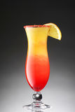 在梯度的五颜六色的鸡尾酒 免版税图库摄影