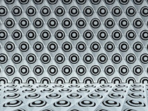 在梯形样式, 3D的黑白圈子回报 免版税库存图片