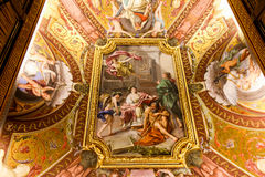 在梵蒂冈博物馆的新生绘画 免版税库存图片