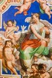在梵蒂冈博物馆的新生绘画 免版税库存照片
