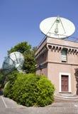 在梵蒂冈庭院的梵蒂冈广播电台大厦2010年9月20日在梵蒂冈,罗马,意大利 图库摄影