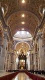 在梵蒂冈的圣彼得大教堂 免版税库存图片