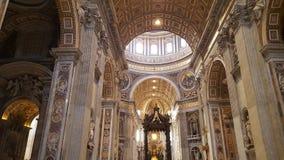 在梵蒂冈的圣彼得大教堂 免版税图库摄影